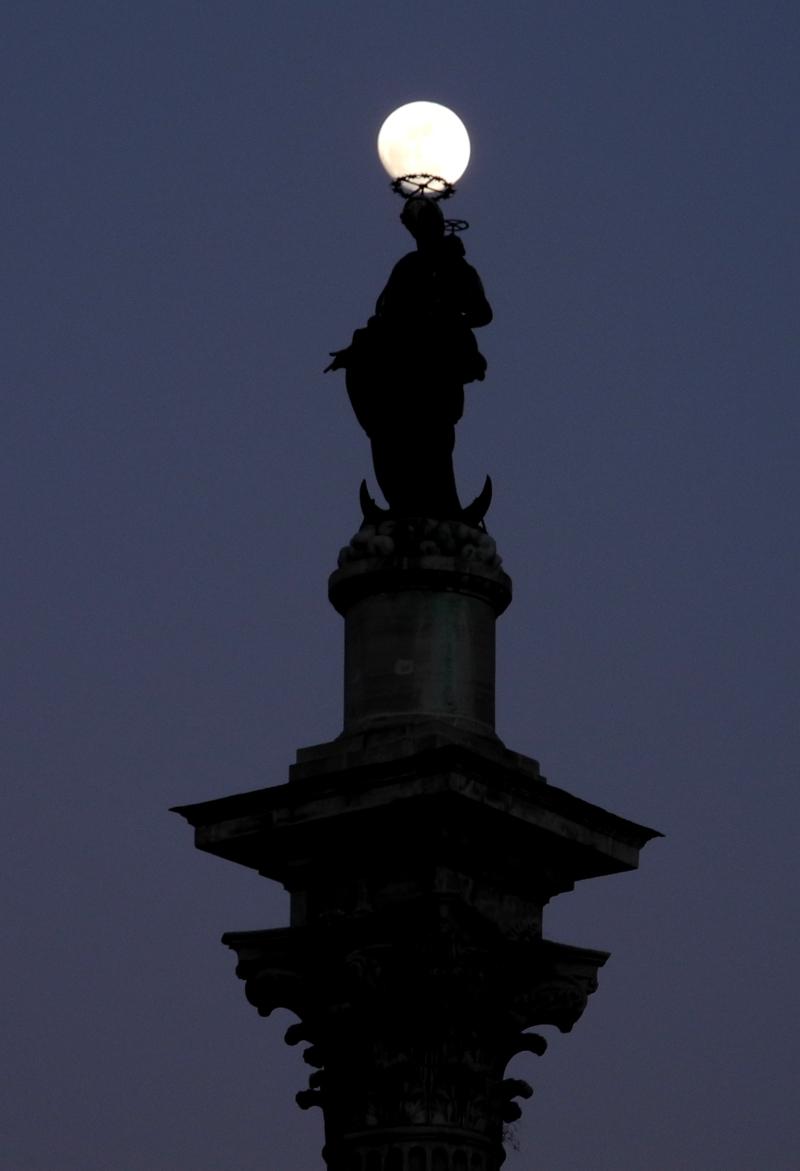 Moon Sculpture Rome Italy