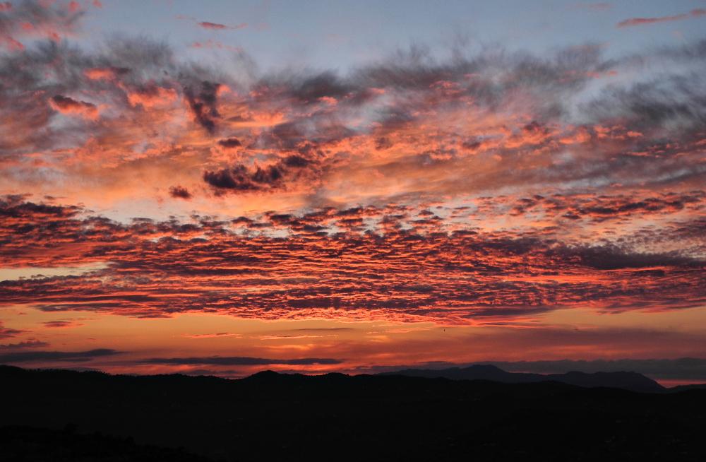 Comares Axarquia Spain Sunset