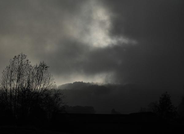 Ludlow Shropshire UK Fog
