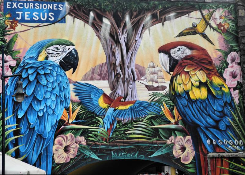 Tenerefe Los Chrisianos Mural