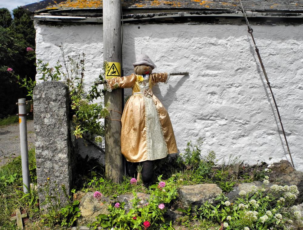 Cornwall Lizard Scarecrow