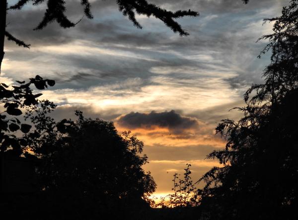 Ludlow Shropshire UK Sunset
