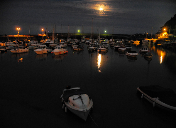 Moon Saundersfoot Wales UK