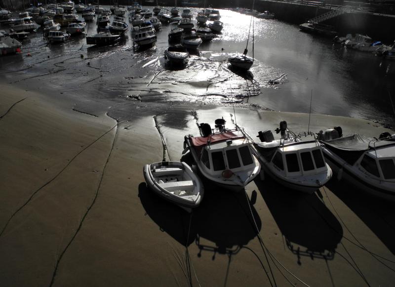 Saundersfoot harbour Wales UK