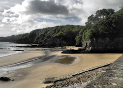 Saundersfoot Glen beach Wales UK