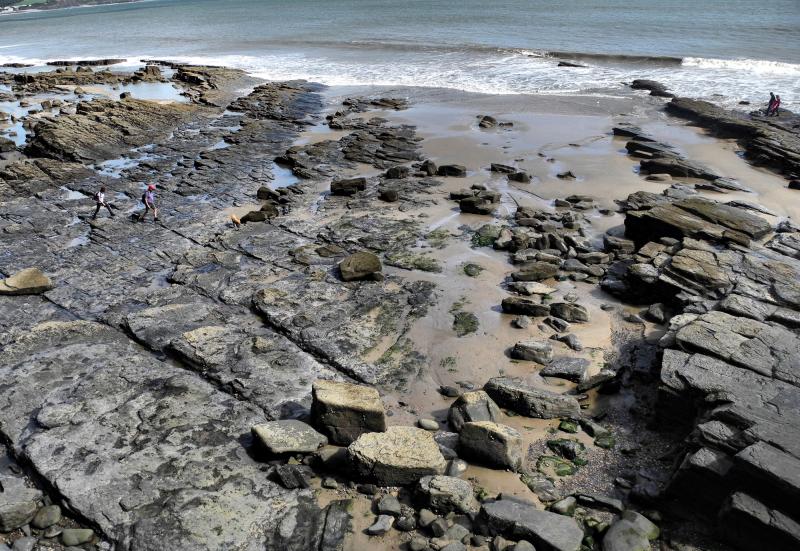 aundersfoot Rocks Wales UK