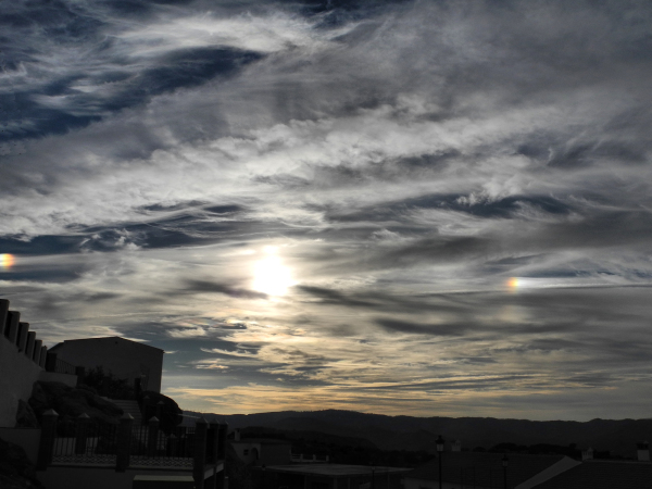 Comares Axarquia Spain Sundogs