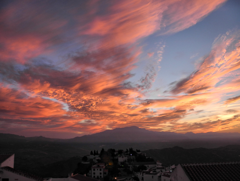Comares Axarquia Spain Dawn