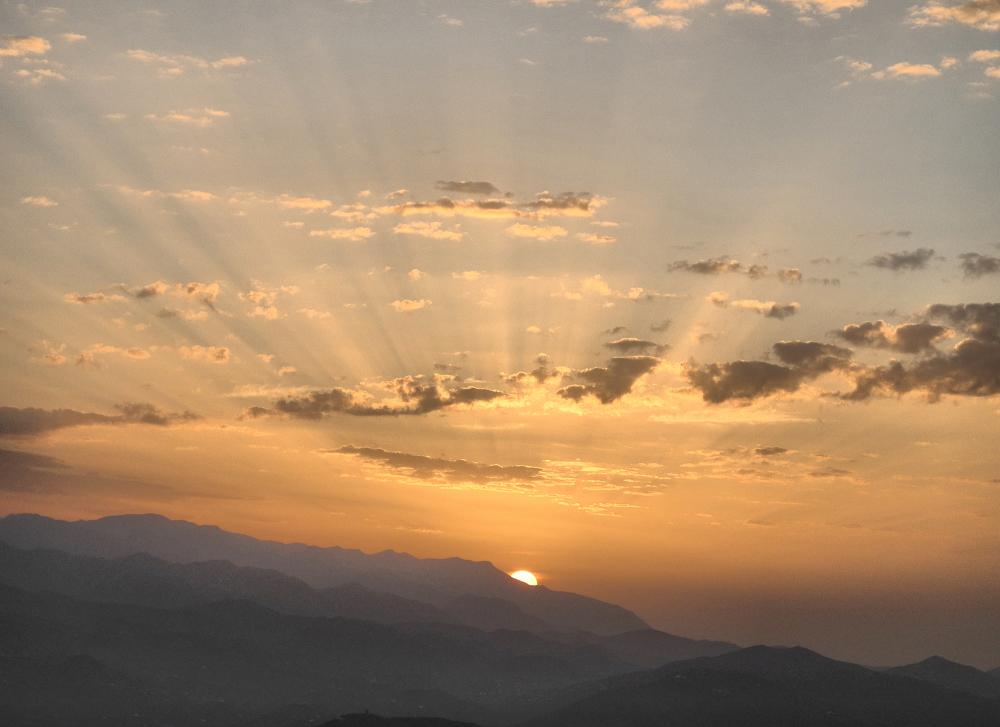 Comares Axarquia Spain Dawn