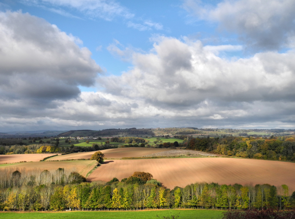 Ludlow Shropshire UK Caynham Camp