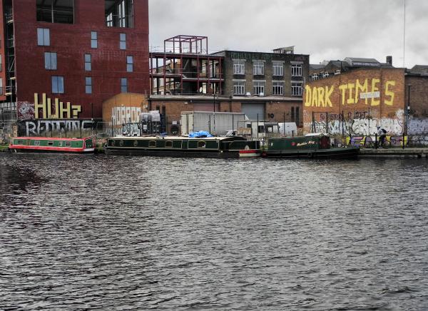 London UK Canal Queen Elizabeth Park