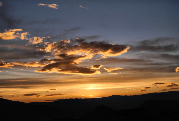 Comares Axarquia Spain Sunset