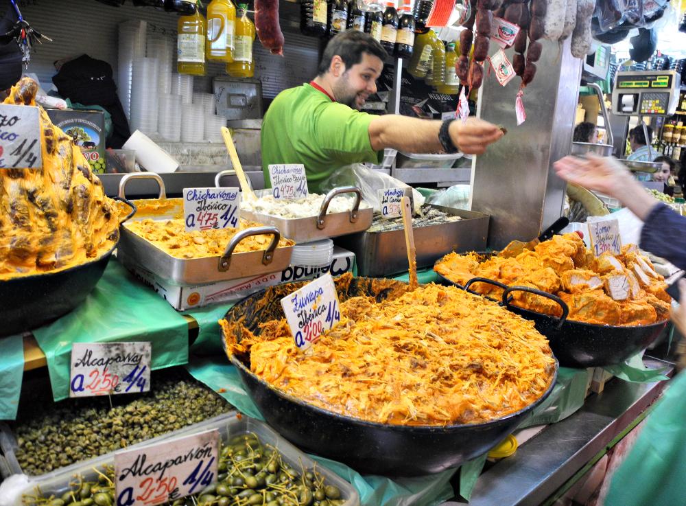 Malaga Market Andalusia Spain