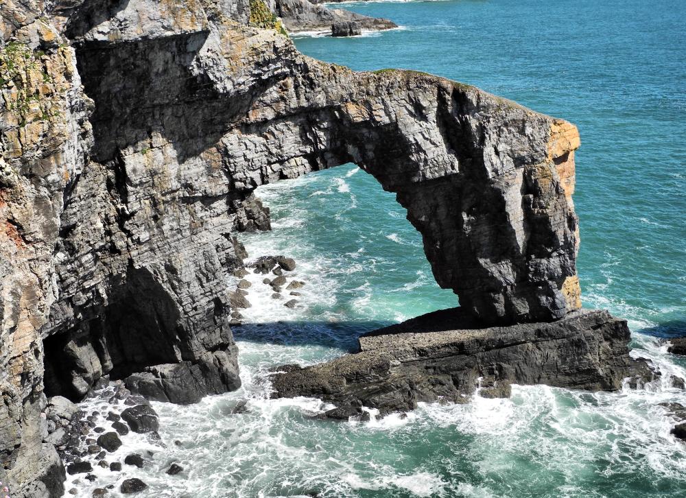 Pembrokeshire Wales UK Green Bridge