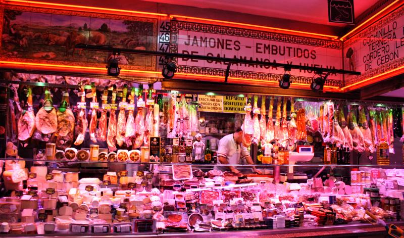 Madrid Spain Jamon