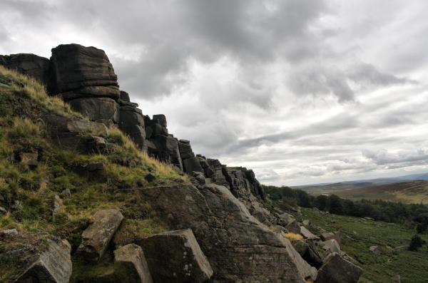 Sheffield Yorkshire Stanage Edge UK