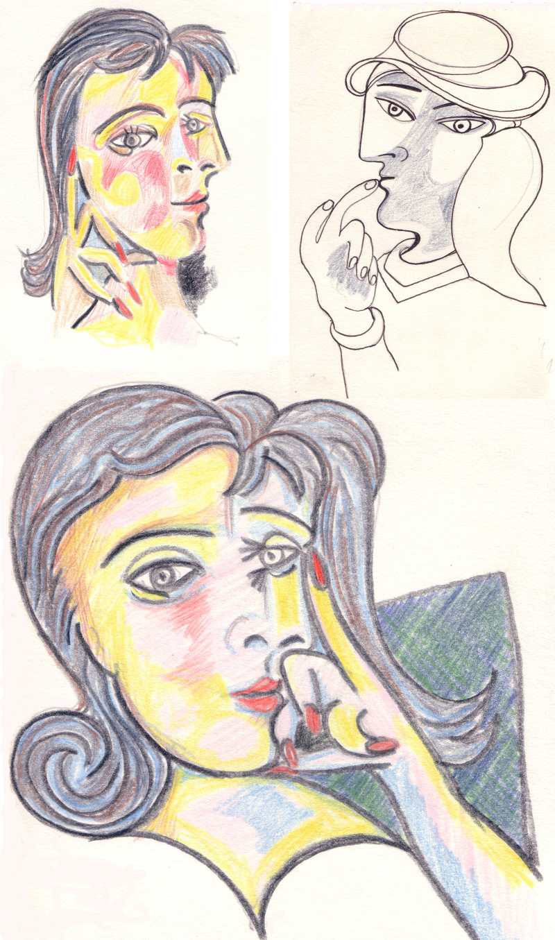 After Picasso Pencil Sketches UK