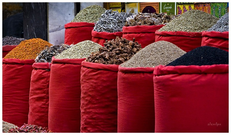 Spices on Red Sacks