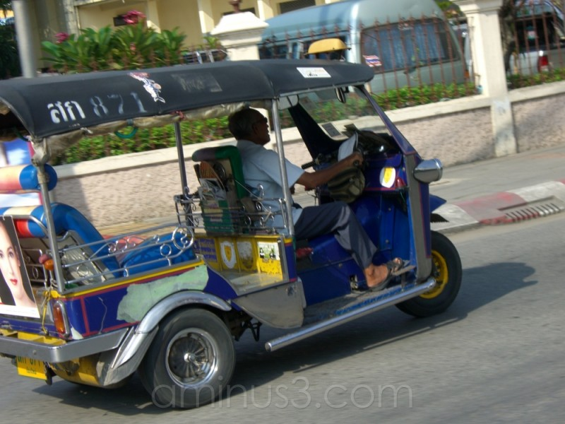 Riding in a Red Car makes me miss my Tuk-Tuk