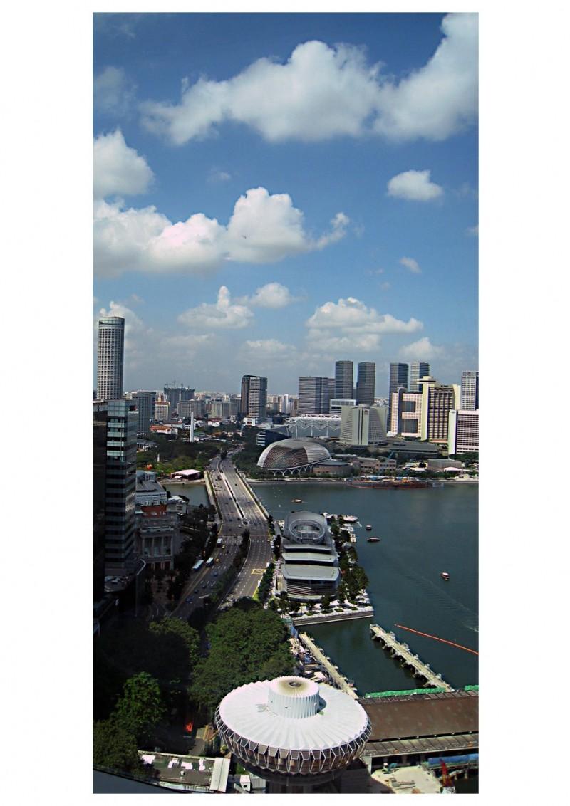 singapore city skyline esplanade