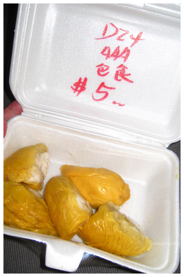 packed durian