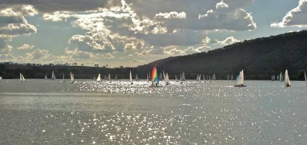 Rainbow Sail boat