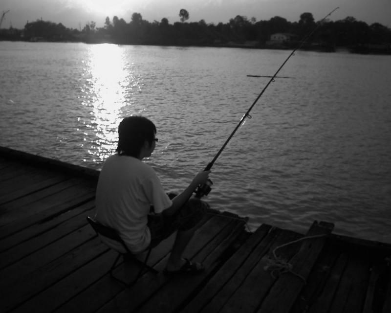 fishing moment