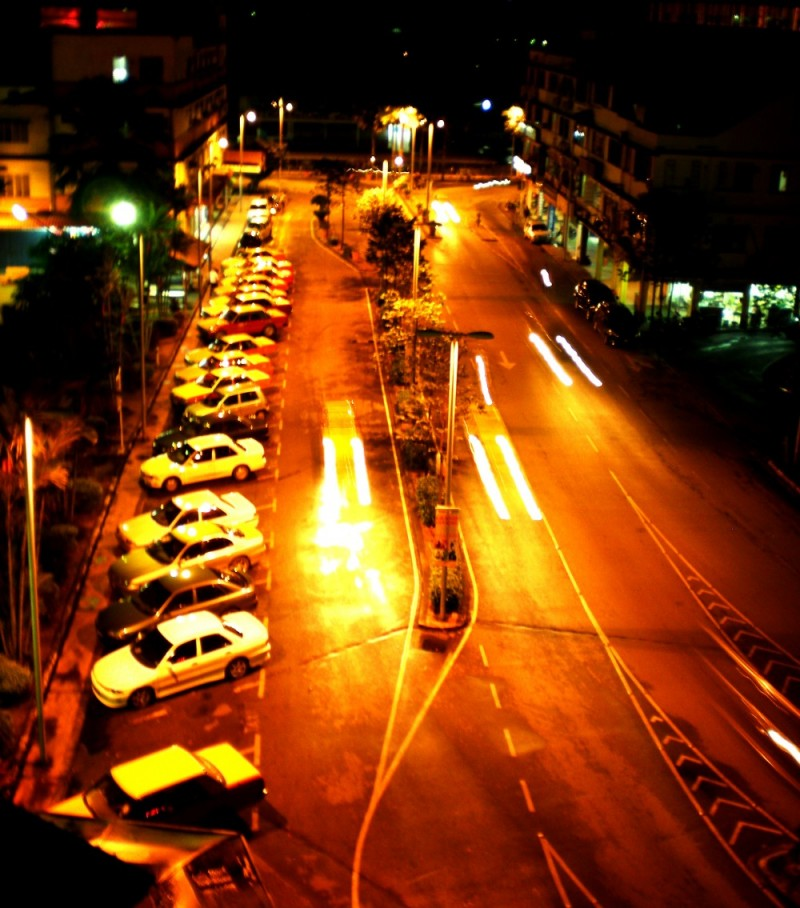 night view of sibu street