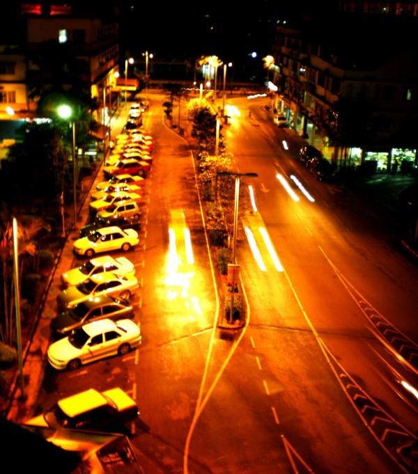 night view of sibu street