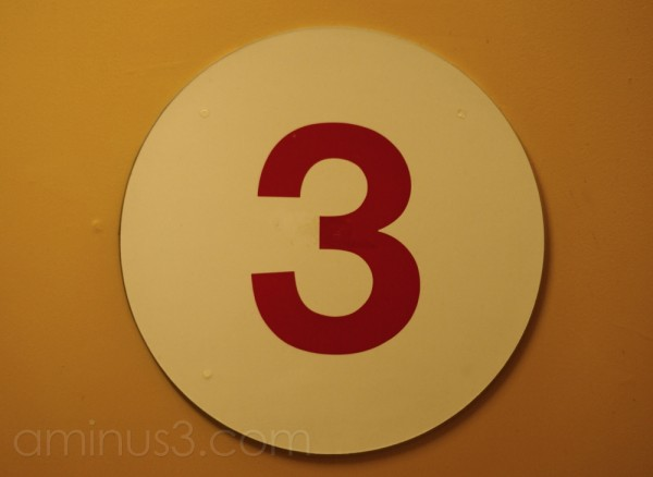 Today is brought to you by the number 3