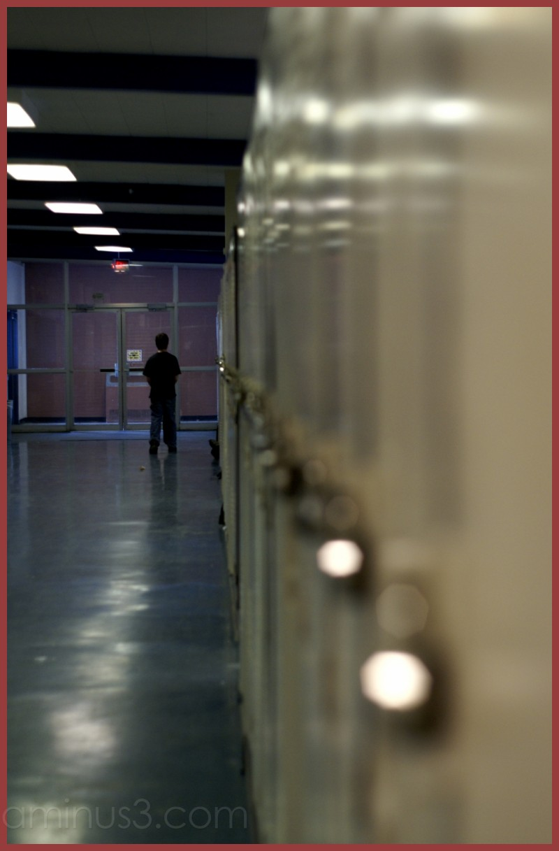 At the lockers.. after school