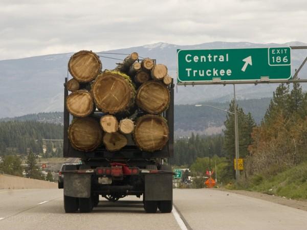 Log Truck near Truckee, CA