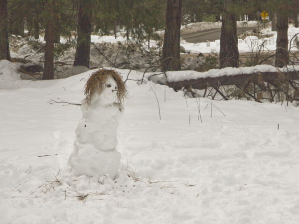 Straw Haired Snowman