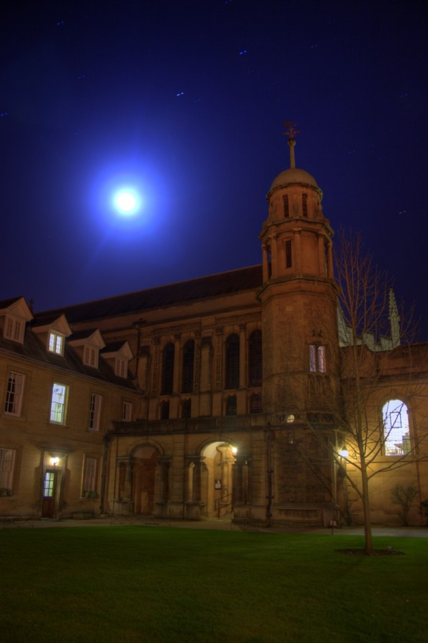 HDR image of Hertford College, Oxford