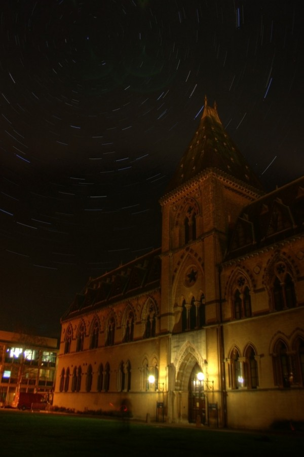 Startrails over the Natural History Museum, Oxford