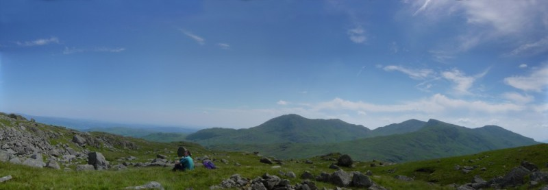View to Wetherlam from Black Crag.
