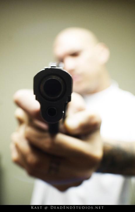 Gun pointing