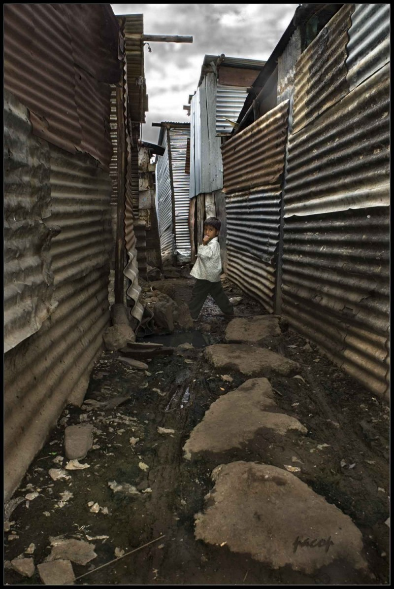 Niño del Slum (Retratos de La India)
