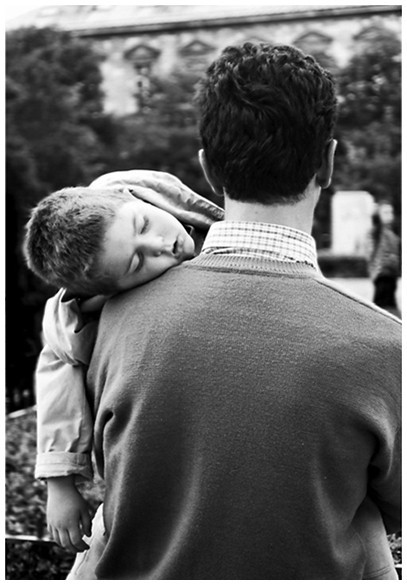 Father and son, Paris