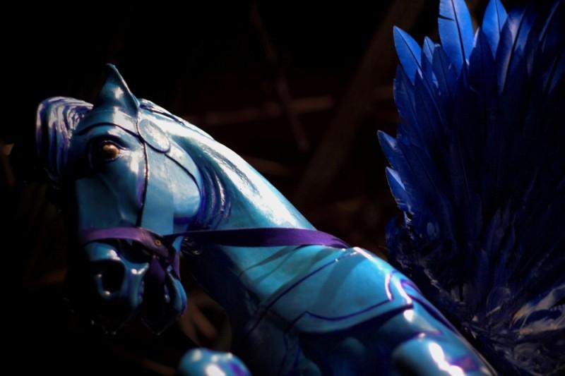 blue winged horse