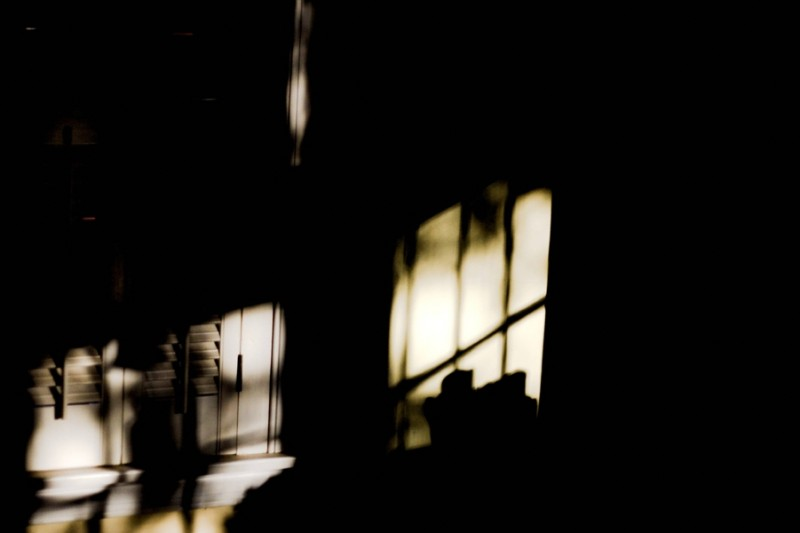evening shadows on wall