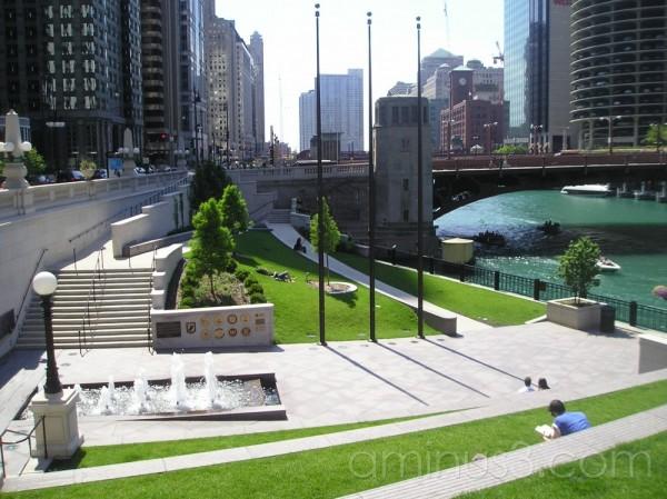 Urban Green Space along Chicago River