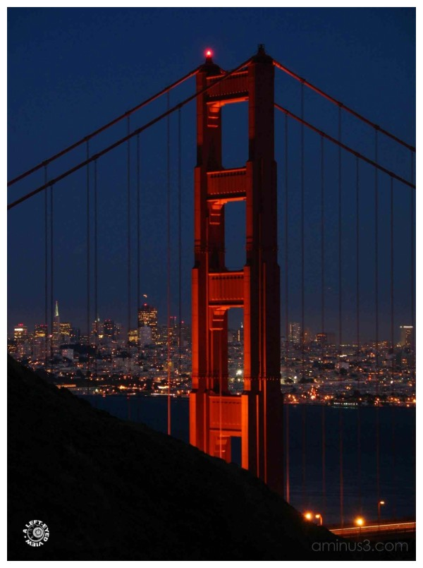 Golden Gate Bridge at Nightfall