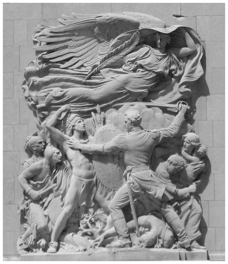 """Bas relief"", ""Michigan Avenue Bridge"""