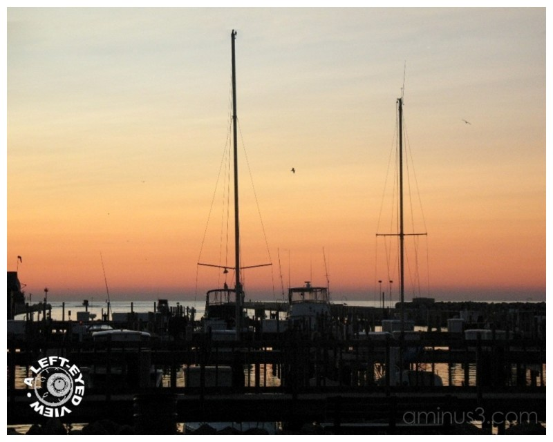 Sunrise, Piers, Sailboats, boats