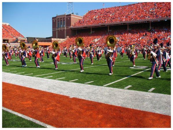 Marching Illini, Halftime, University of Illinois