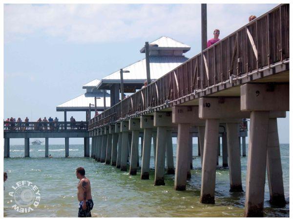 Ocean, pier, water