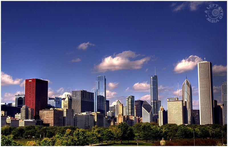 Chicago Skyline, AON Center, Smurfit-Stone