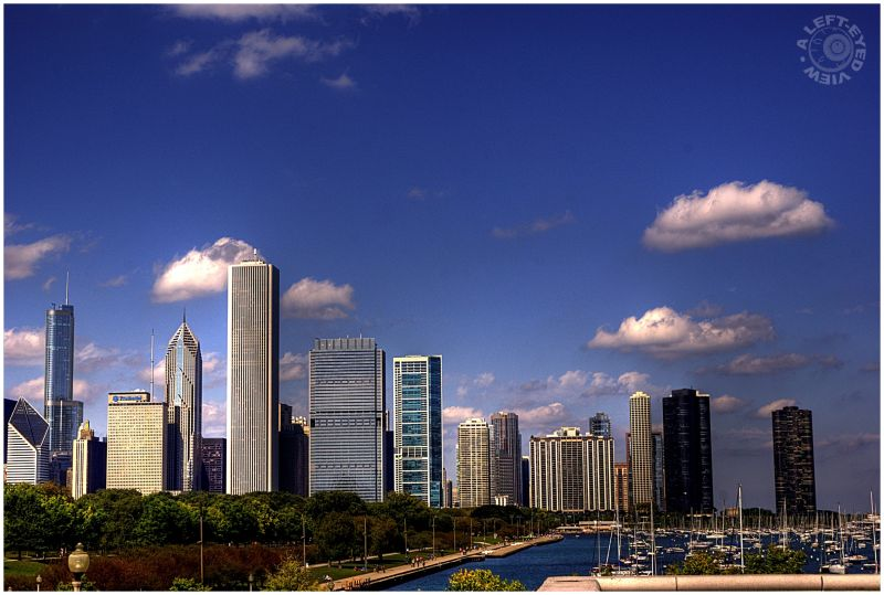 Chicago skyline, AON Center, Smurfit-Stone