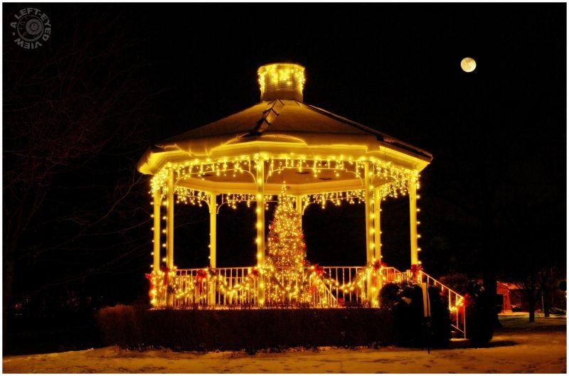 """Christmas gazebo, """"Lake Bluff"""", Illinois"""